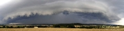 Aufziehendes Unwetter über dem Ambergau